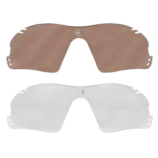 Ochelari Force Race Pro albi lentila rosie laser [1]