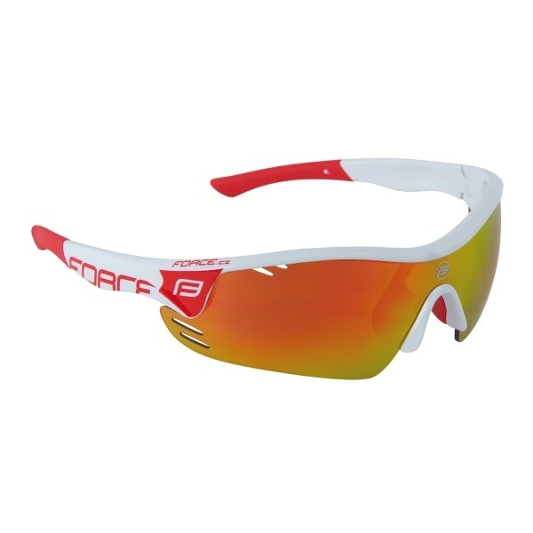 Ochelari Force Race Pro albi lentila rosie laser [0]