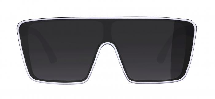 Ochelari Force Scope, lentile negre, albi [3]