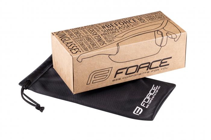 Ochelari Force Scope, lentile negre, albi [4]
