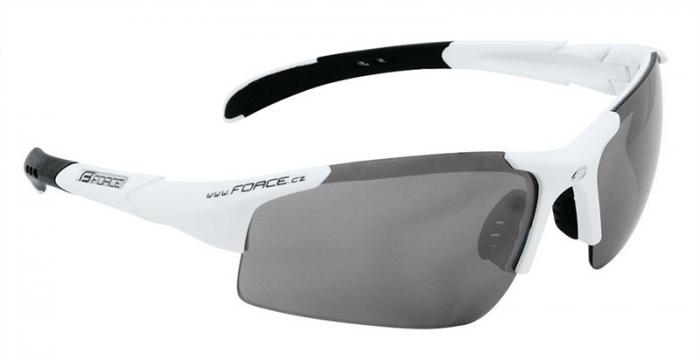 Ochelari Force Sport albi cu lentila fumurie [0]