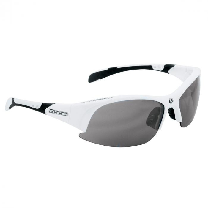 Ochelari Force Ultra albi cu lentila fumurie [0]