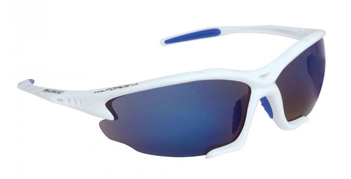 Ochelari sport Force Light albi lentila albastru laser [0]