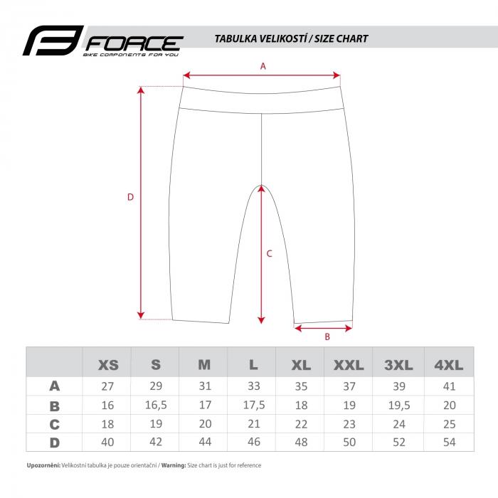 Pantaloni Force B20 cu insertie gel Negru/Albastru XXL [3]