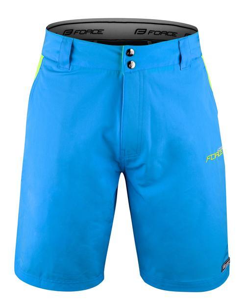Pantaloni Force Blade MTB cu sub-pantaloni cu bazon Bleu XXL [0]