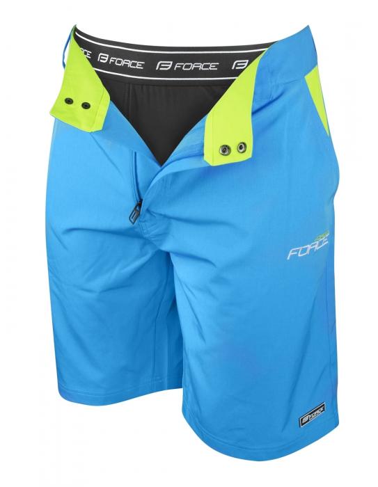 Pantaloni Force Blade MTB cu sub-pantaloni cu bazon Bleu XXL [1]