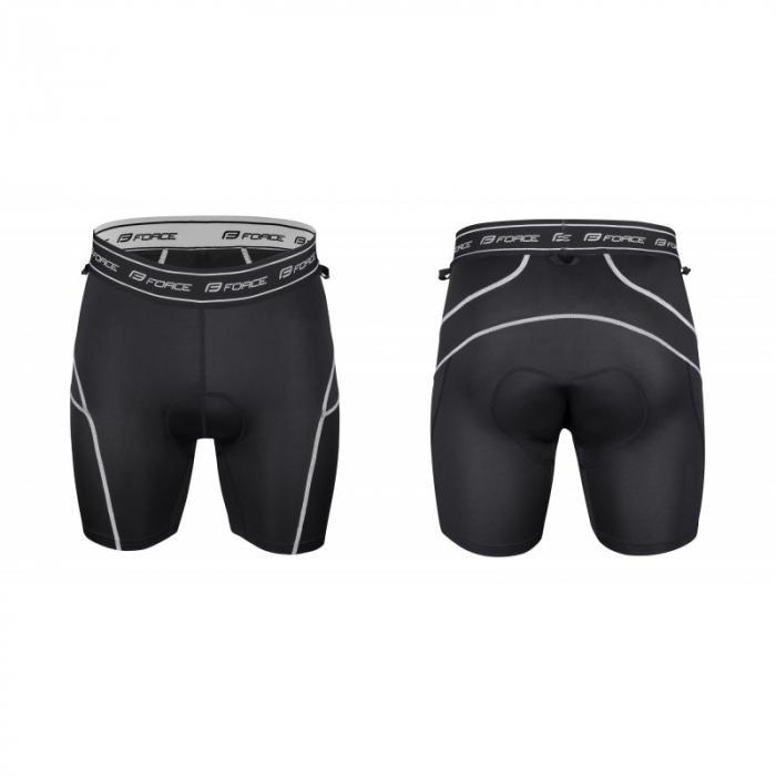 Pantaloni scurti Force MTB-11 cu sub-pantaloni cu bazon galben fluo XS [3]