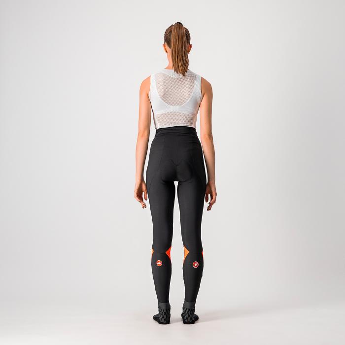 Pantaloni lungi Castelli Velocissima, de dama, Negru/Roz, S [1]