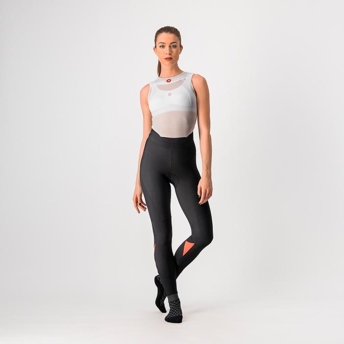 Pantaloni lungi Castelli Velocissima, de dama, Negru/Roz, S [0]