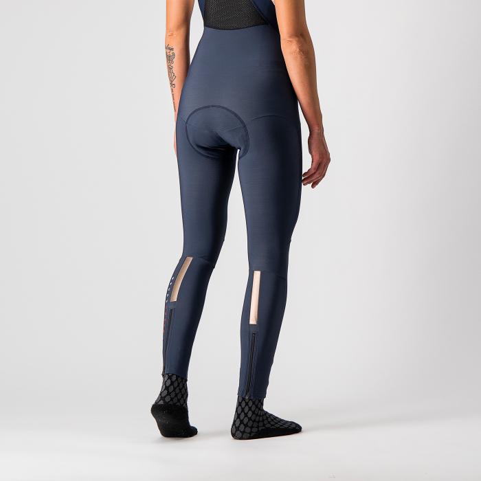 Pantaloni lungi cu bretele Castelli Sorpasso RoS W, de dama, Negru/Corai, L [2]