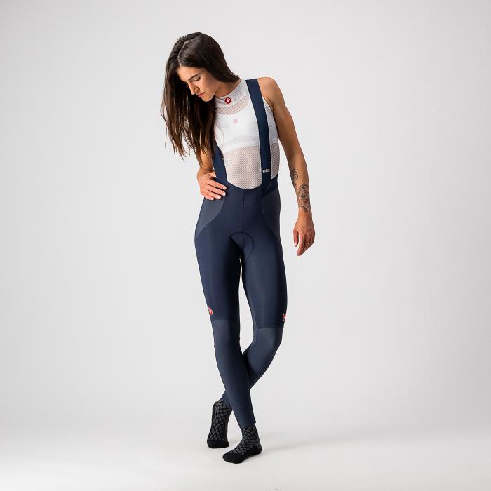 Pantaloni lungi cu bretele Castelli Sorpasso RoS W, de dama, Negru/Corai, L [3]