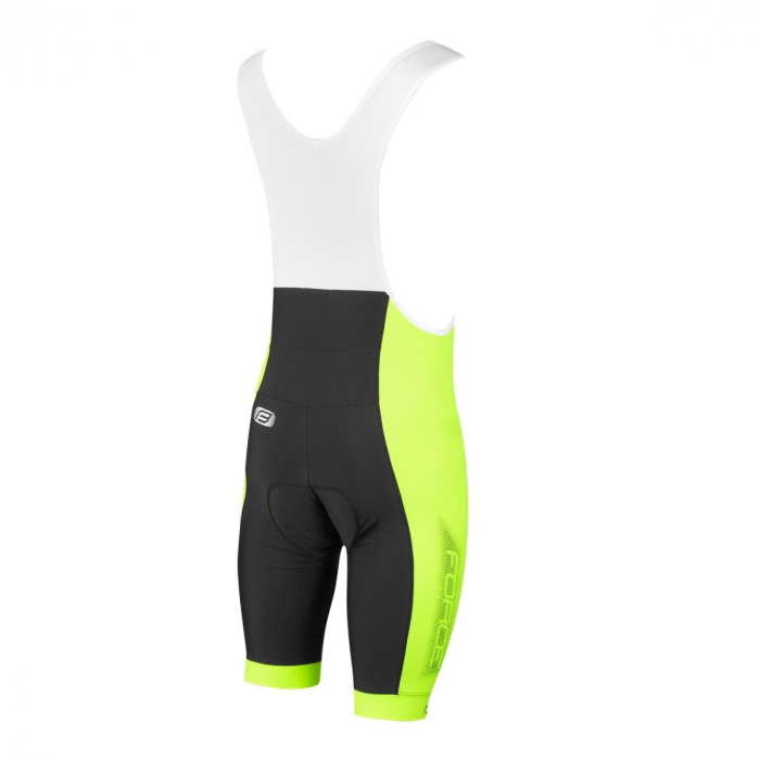 Pantaloni scurti cu bazon si bretele Force B40 negru/fluo XXL [1]