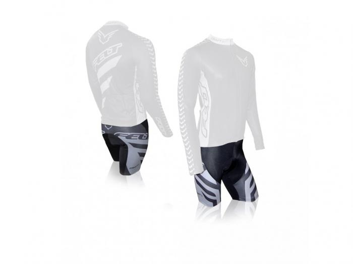 Pantaloni scurti cu bretele Craft Felt Team, Negru/Antracit, XL [0]