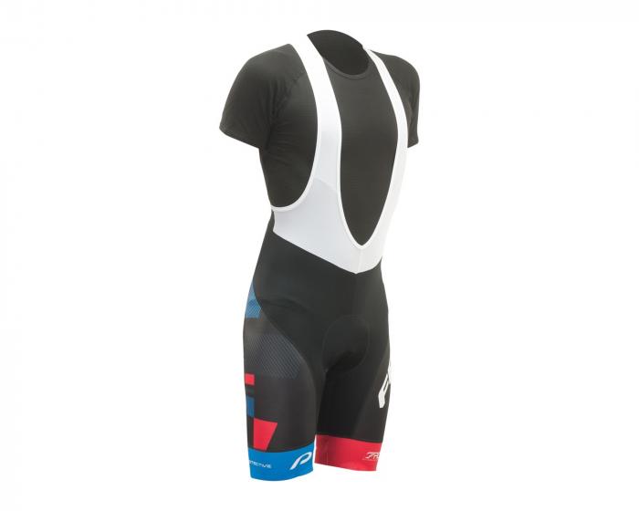 Pantaloni scurti cu bretele Felt FRD, Negru/Alb/Albastru/Rosu, S [1]