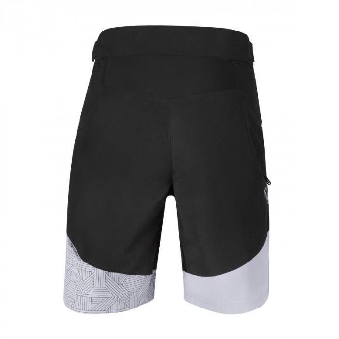 Pantaloni scurti Force Storm pana la talie cu bazon, negru/gri 3XL [2]