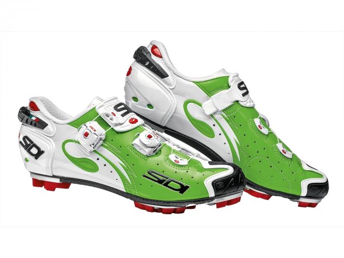 Pantofi ciclism SIDI Drako Carbon SRS, de MTB, Verde/Alb, 43.5 [0]