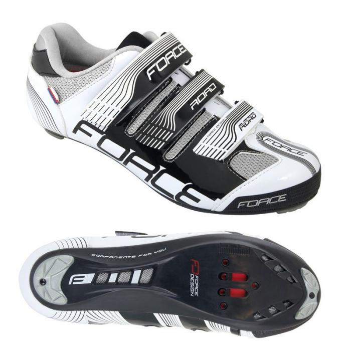 Pantofi Force Spike Road negru/alb 40 [0]