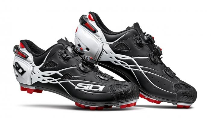 Pantofi MTB SIDI Tiger Carbon SRS, Negru/Alb, 43 [0]