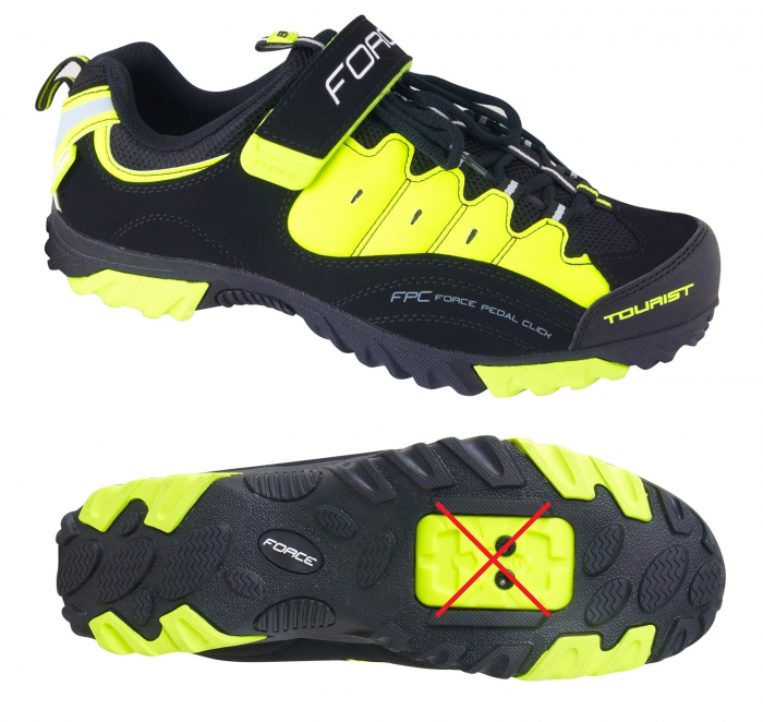 Pantofi Tourist Force negru/fluo 47 [1]
