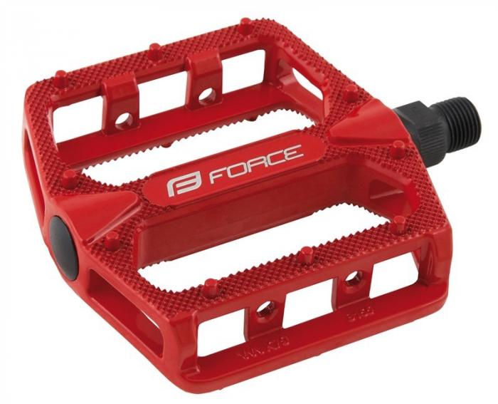 Pedale BMX Force Hot aluminiu rosii [0]