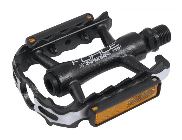 Pedale Force Edge Aluminiu, cu rulmenti, negre [0]