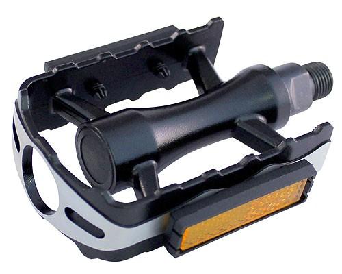 Pedale Union SP-610 1-piece aluminiu negre filet 9/16 [0]