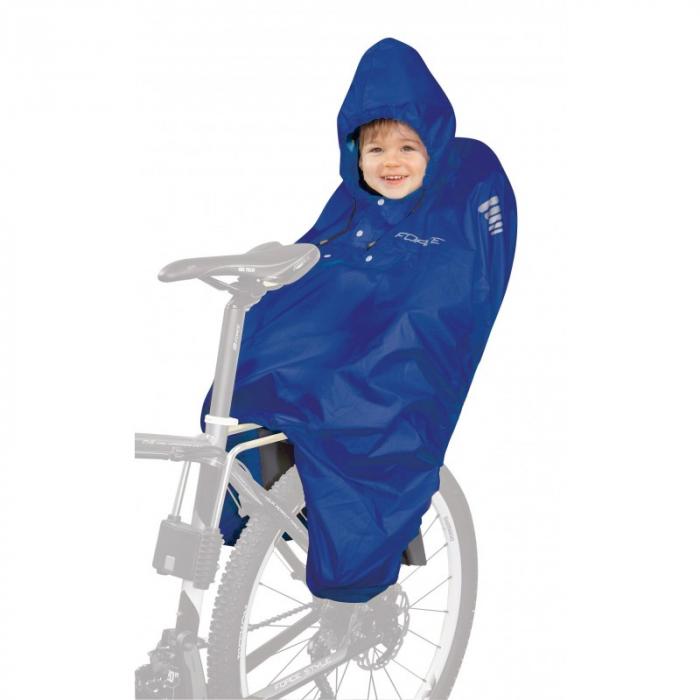 Pelerina ploaie Force pentru copii in scaun bicicleta albastra [0]