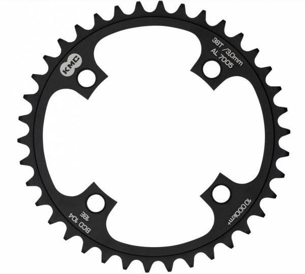 Foaie angrenaj pedalier KMC 38T BCD 104 AL7075 neagra [0]