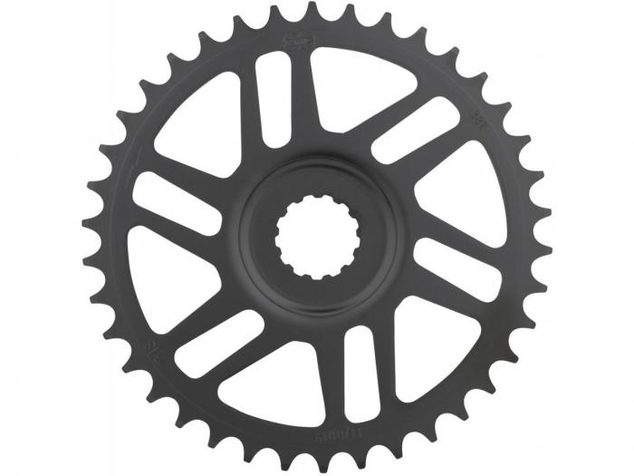 Foaie angrenaj pedalier KMC 38T Direct Mount Bosch 3mm Offset neagra [0]