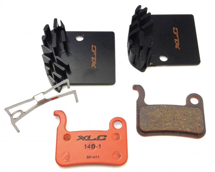 Placute frana XLC BP-H11, cu radiator, pt Shimano XTR/XT/Saint, Organice [0]