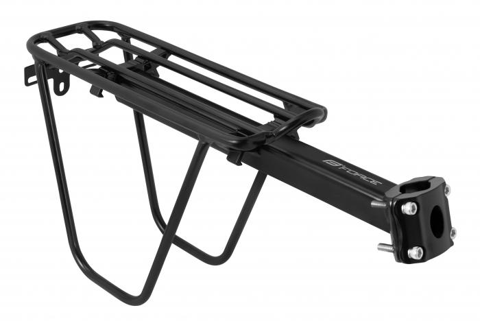 Portbagaj aluminiu Force 24-29 cu laterale si clema negru [0]