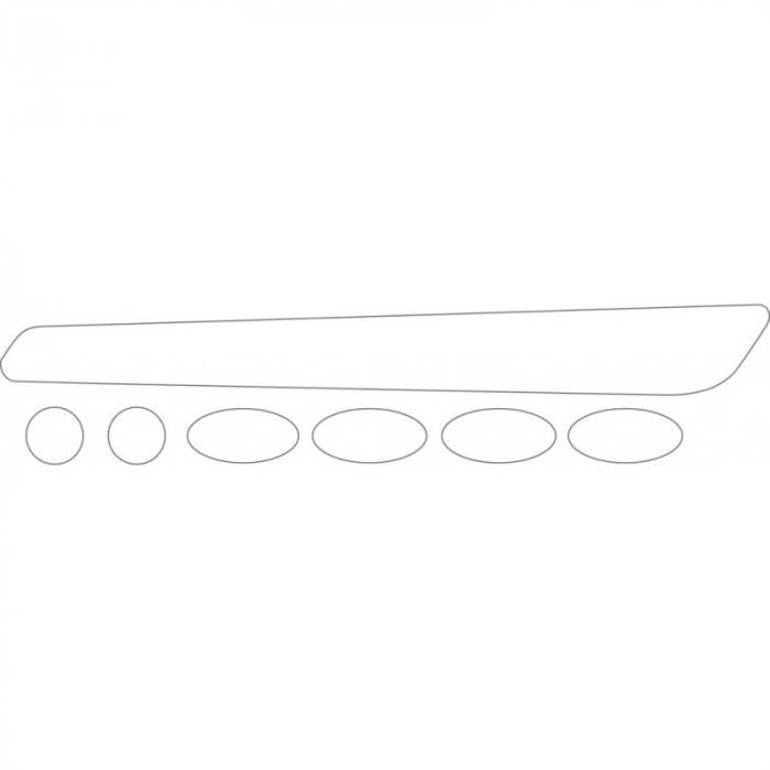 Autocolant protectie cadru BBB BBP-50 BikeSkin Transparent [1]