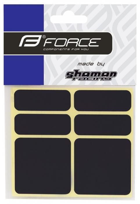 Protectie autocolante cadru Force Reflekton, set 6 bucati, negru reflectorizant [0]