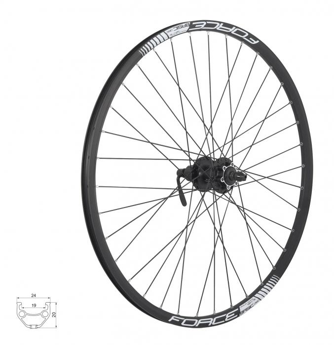 Roata spate 27.5 Force Basic Disc 584x19 neagra [0]
