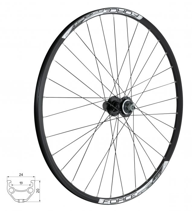 Roata spate 28/29 Force Basic Disc 622x19 centerlock [0]