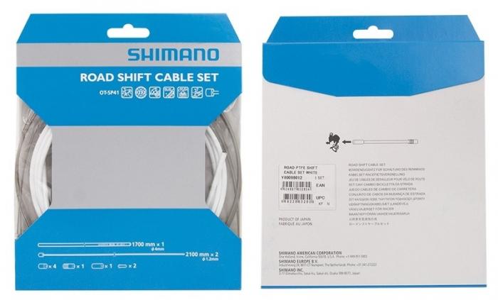 Set cabluri si camasi schimbator Shimano DA79 sosea alb [0]