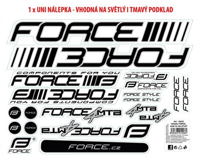 Set Stickere Cadru MTB Logo Force 37X27 Cm [0]