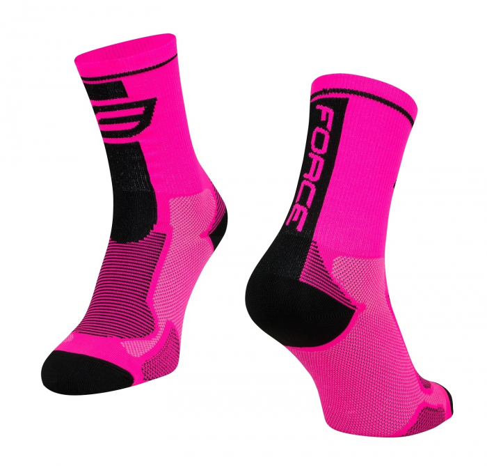 Sosete Force Long roz/negru XS [0]