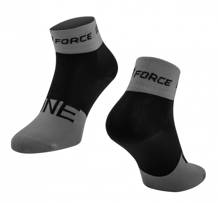 Sosete Force One, gri/negru, S-M (36-41) [0]