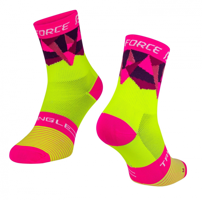 Sosete Force Triangle fluo/roz S-M [0]