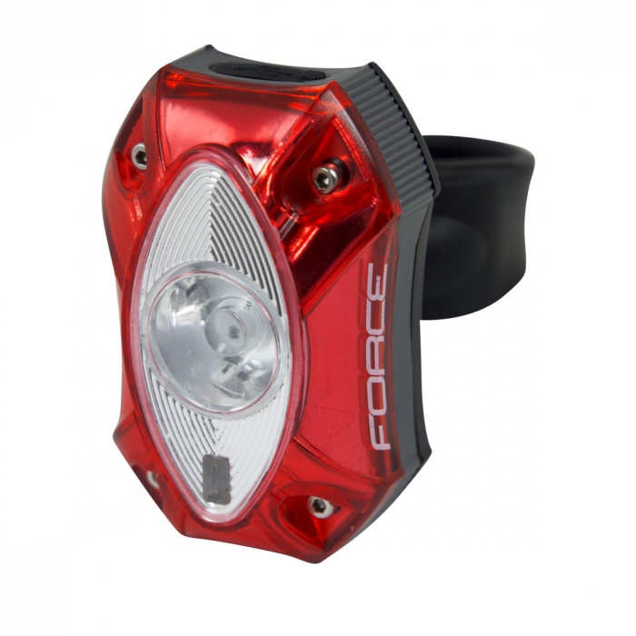 Stop spate Force Red 1 led Cree 60 Lm USB [0]