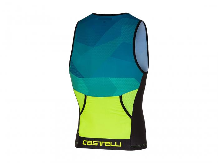 Top Triatlon Castelli Core 2, Turcoaz/Verde/Negru, L [6]