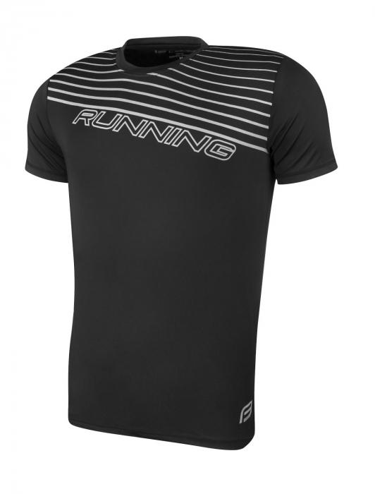 Tricou alergare Force Running negru XXL [0]