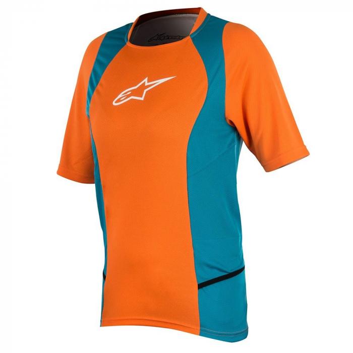 Tricou Alpinestar Stella Drop 2 S/S Jersey bright orange/ocean M [0]