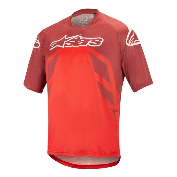 Tricou Alpinestars Racer V2 SS Burgundy/Red/White L [0]