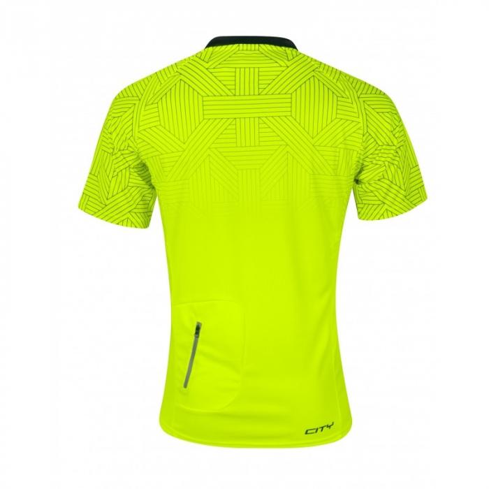 Tricou ciclism Force City, fluo/negru, L [1]