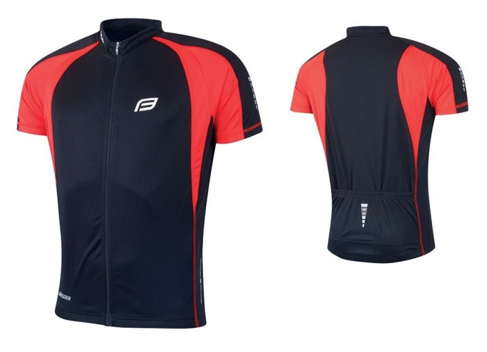Tricou ciclism Force T10 negru/rosu XXL [2]