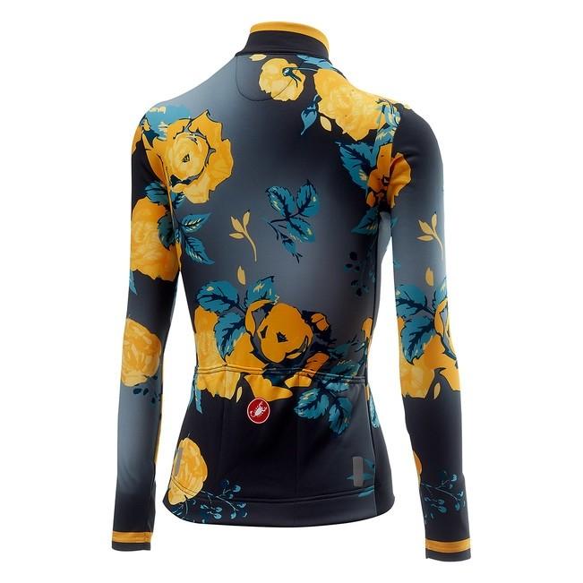 Tricou cu maneca lunga Castelli Scambio, de dama, Gri/Galben floral, XS [1]