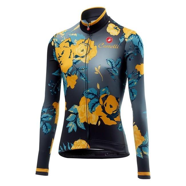 Tricou cu maneca lunga Castelli Scambio, de dama, Gri/Galben floral, XS [0]