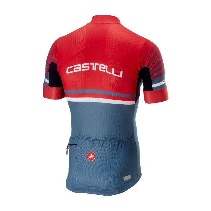 Tricou cu maneca scurta Castelli Aero Race 4.1, Rosu/Bleumarin, M [1]